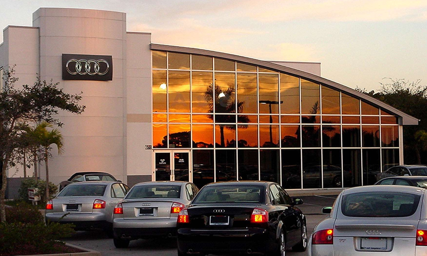 Audi / Volkswagen Dealership Service Center and Sales Canopy
